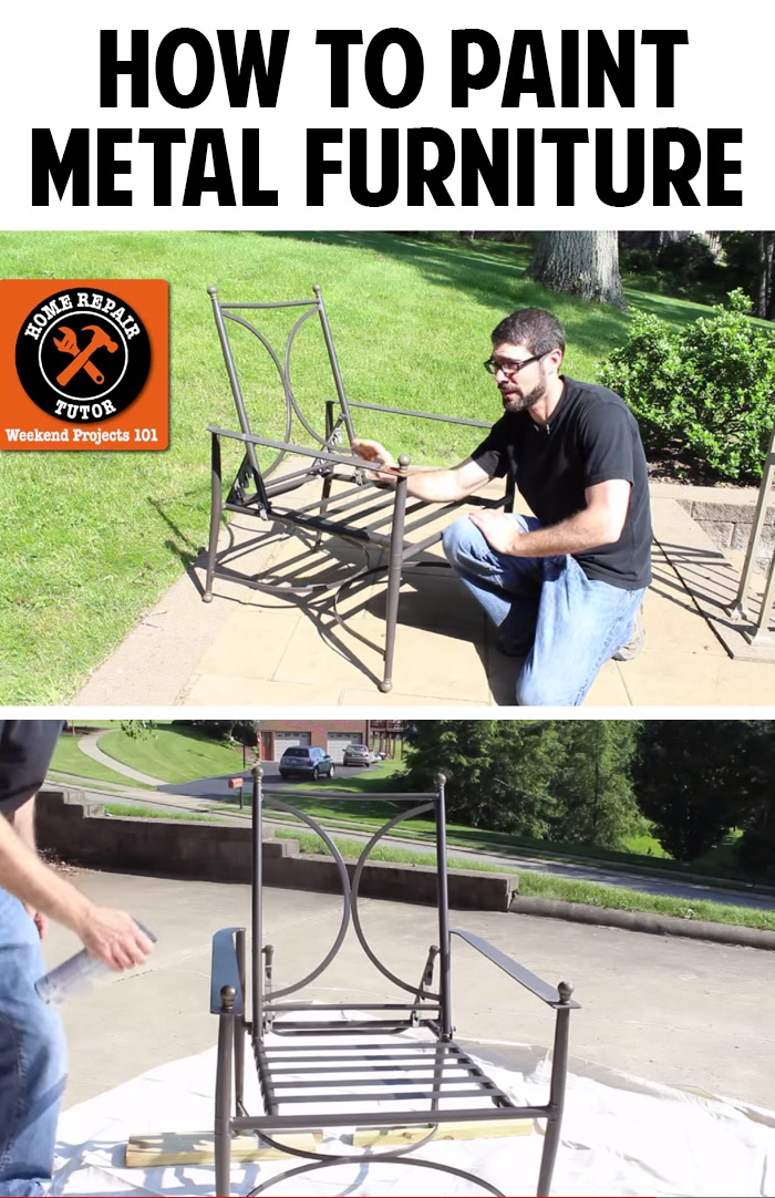 How To Paint Metal Patio Furniture Andrea 39 S Notebook
