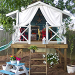 How to make a playhouse hideaway