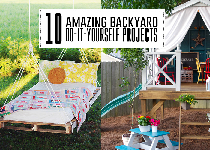 10 amazing backyard do it yourself projects you 39 ll adore andrea 39 s notebook. Black Bedroom Furniture Sets. Home Design Ideas