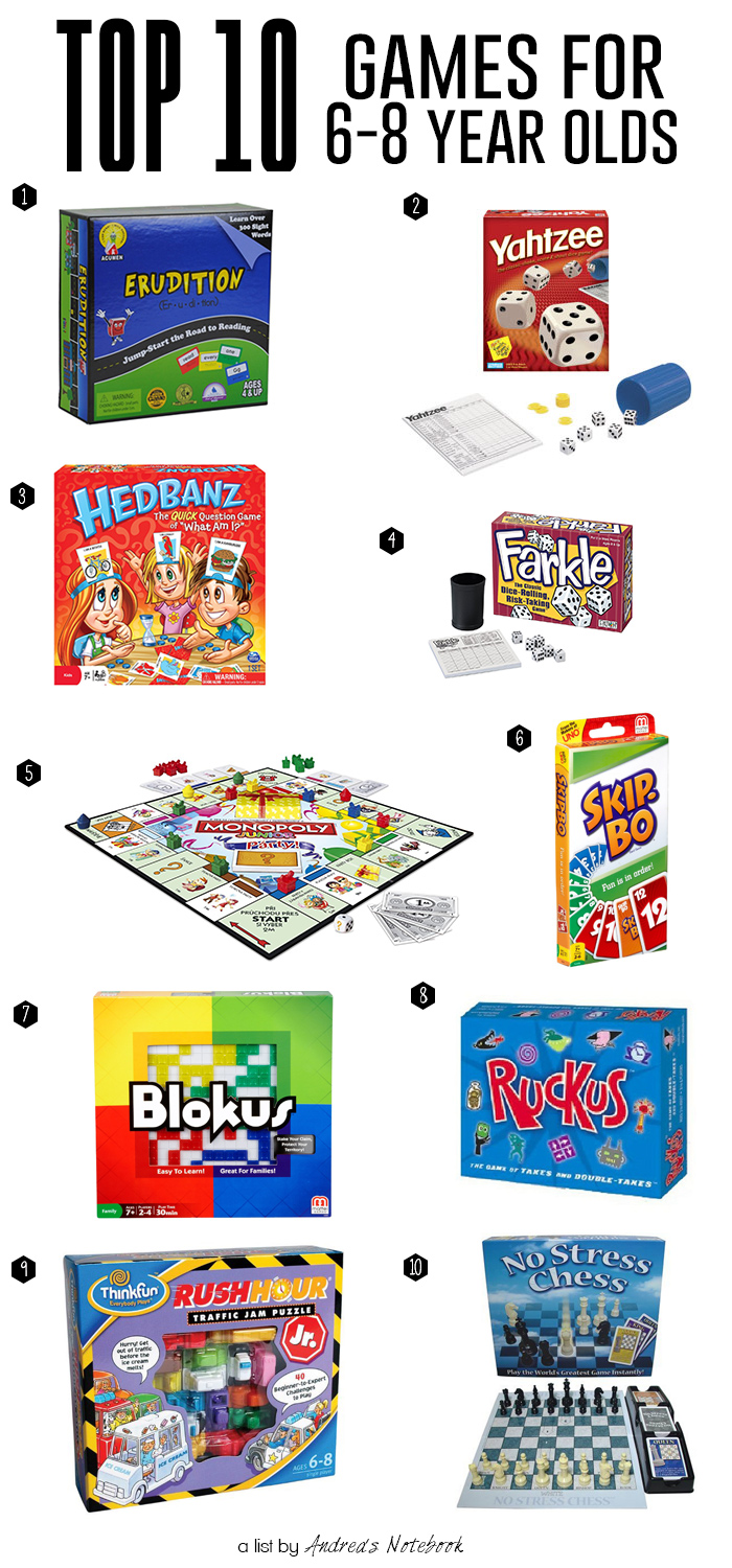 10 best games for 6-8 year olds