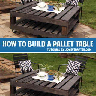 How to build a pallet table