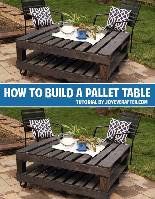How to build a pallet table andrea 39 s notebook - How to make table out of wood pallets ...