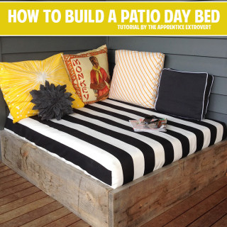 How to build a patio day bed