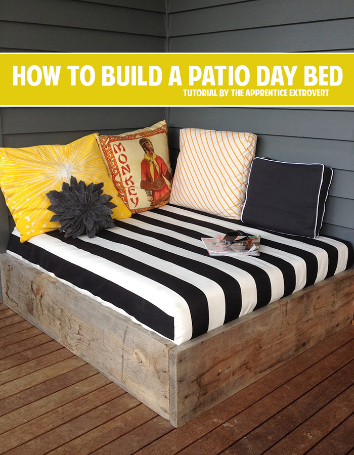 Build this fun, easy outdoor day bed to lounge on! This is so easy ...