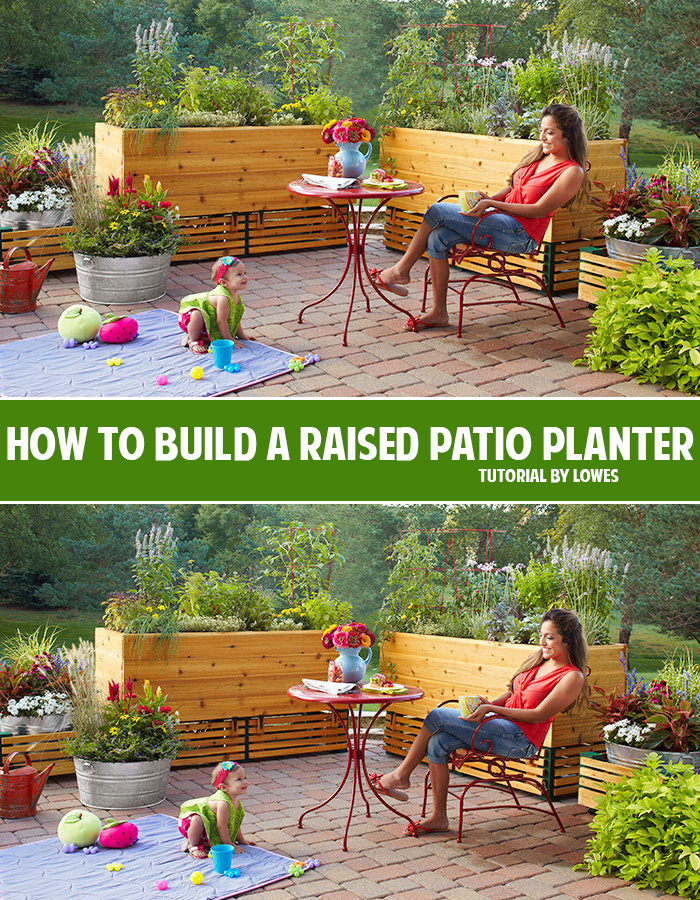 How to build a raised patio planter