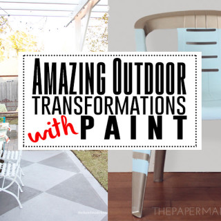 Transform outdoors living space with paint!