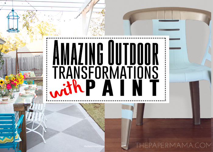 See all these amazing outdoor transformations with paint!