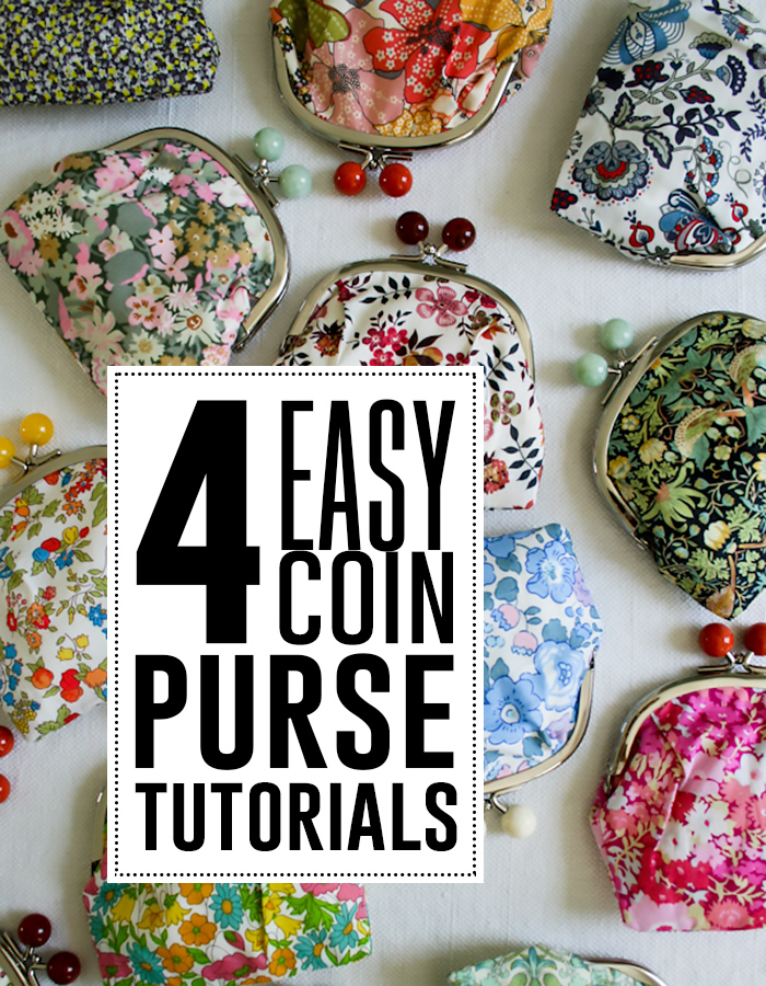 4 easy coin purse tutorials