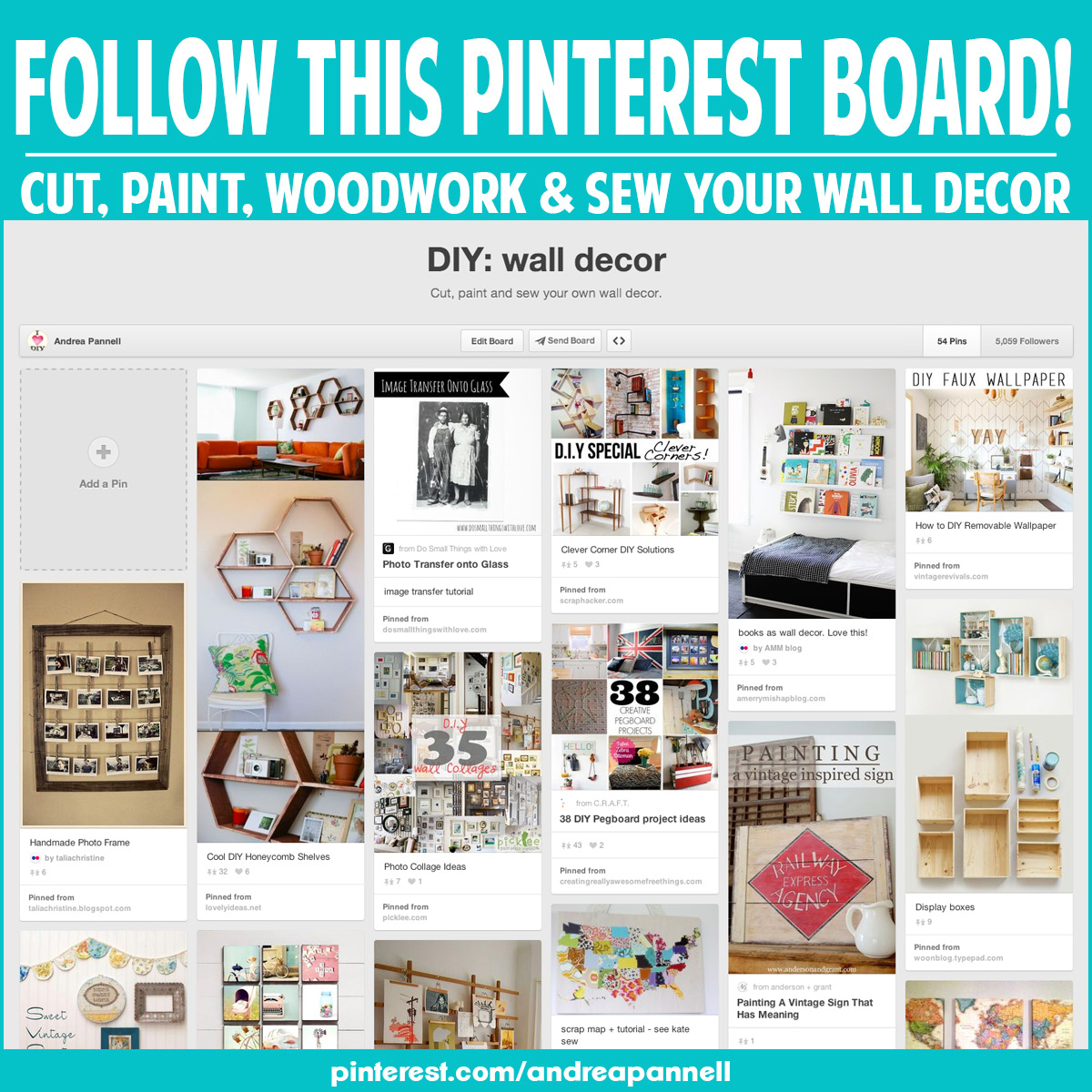 Make your own wall decor andrea 39 s notebook Home decor pinterest boards to follow