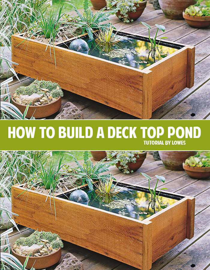 How To Build A Deck Top Pond Andrea S Notebook