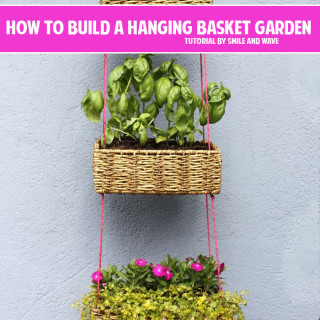 How to build a tiered hanging basket garden