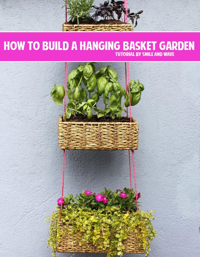How to build a hanging basket garden DIY tutorial