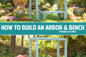 How to build an arbor and bench tutorial