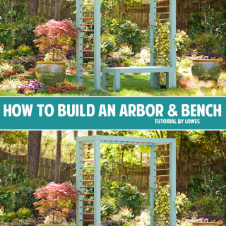 How to build an arbor & bench
