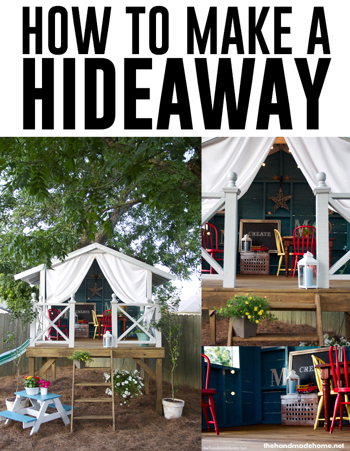 How to make a beautiful outdoor hideaway treehouse - thehandmadehome