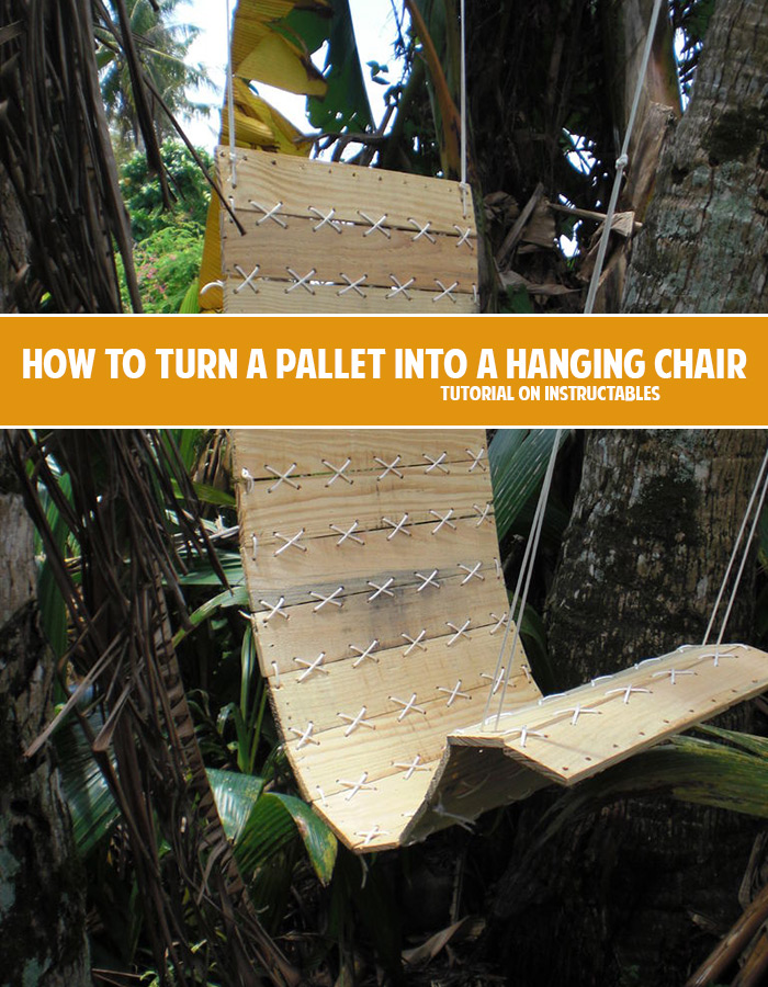 How to turn a pallet into an amazing hanging chair