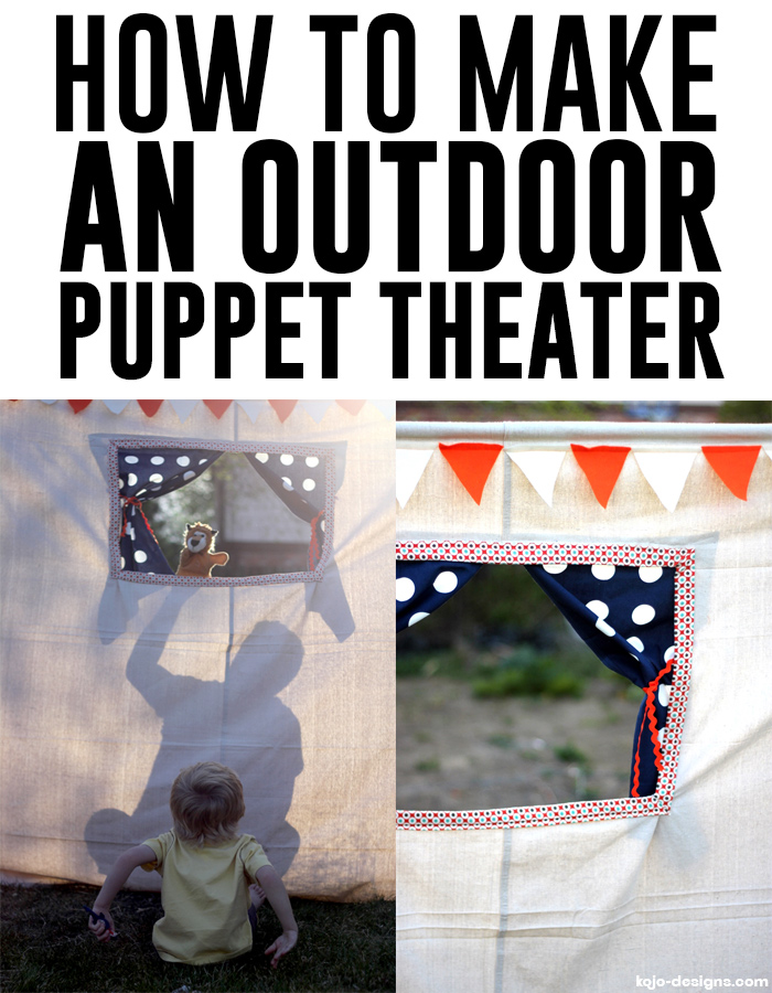 How to make an outdoor puppet theater