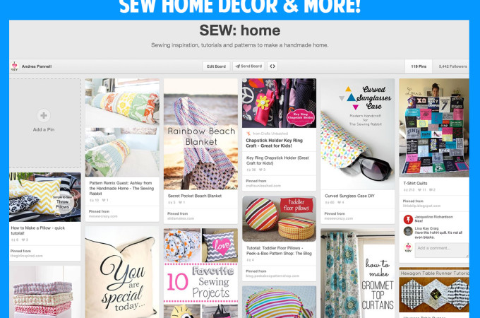 Home sewing tutorials & inspiration! Follow this pinterest board!