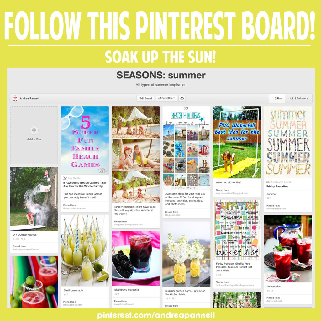 Find all the summer recipes, crafts & activities you need! Follow this pinterest board!