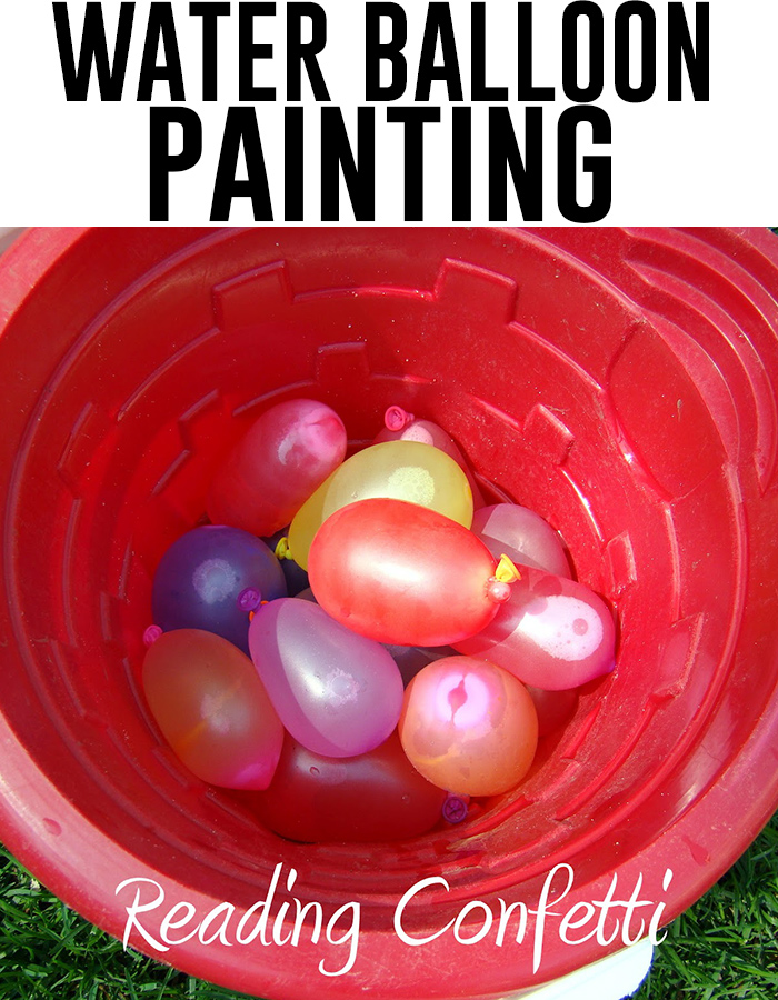 How to paint with water balloons