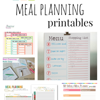 Get organized by meal planning
