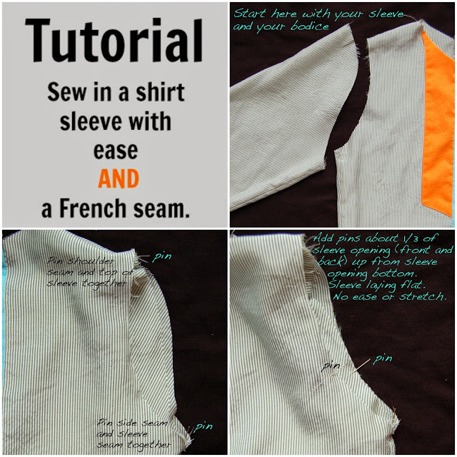 how to sew french seams on a sleeve
