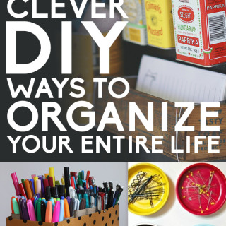 Clever DIY organizing ideas