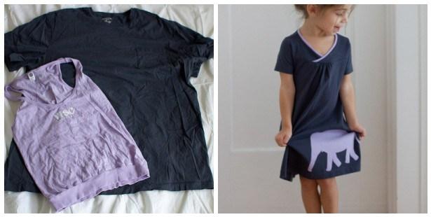 men's shirt to girl's dress tutorial