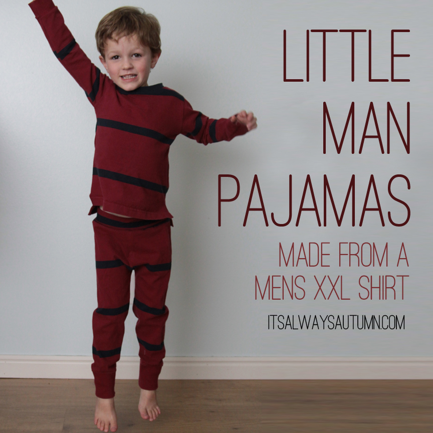 Make pajamas from a men's t-shirt