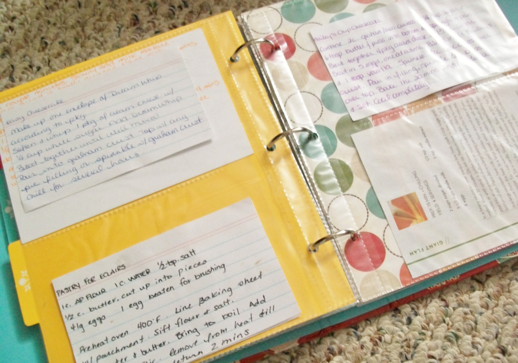 make a recipe binder