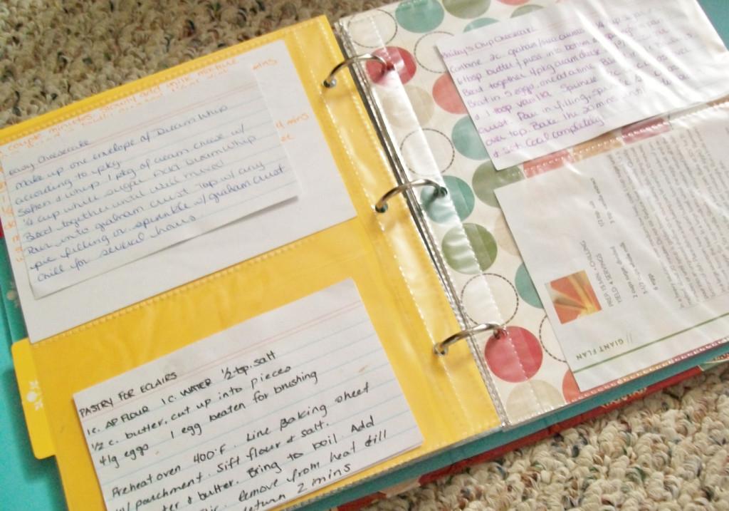 make a recipe binder