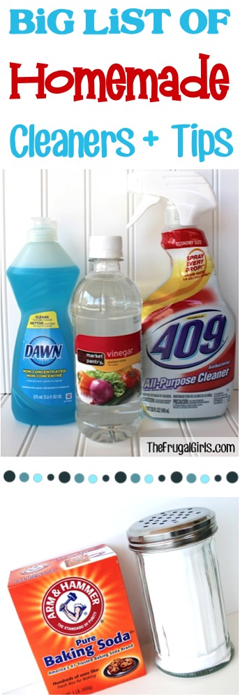 The BIG list of homemade cleaners!