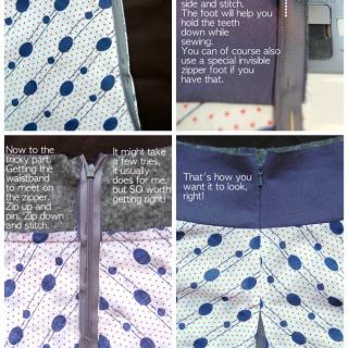Invisible zipper trick