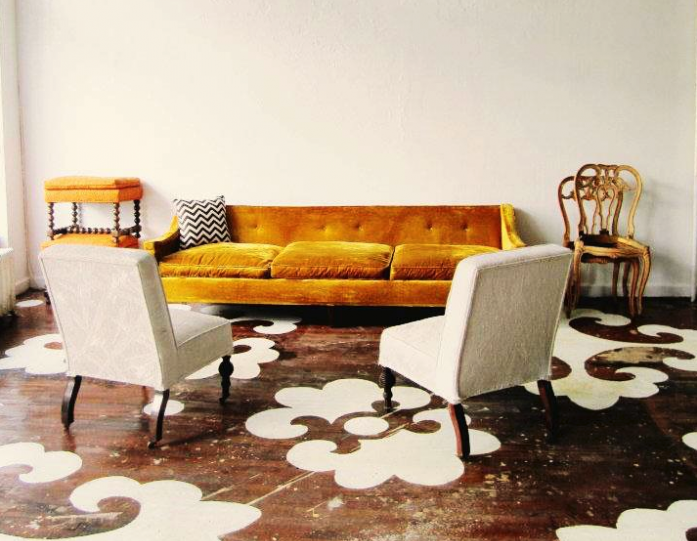Dramatic stenciled flooring and other amazing flooring ideas