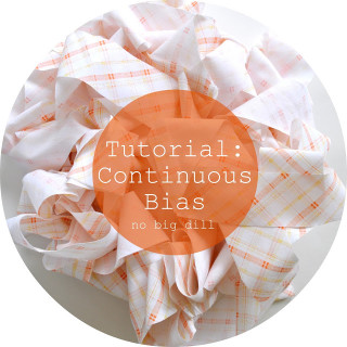 Make continuous bias tape