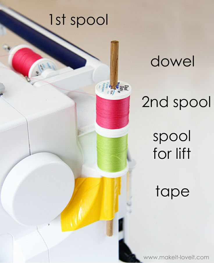 Use a double needle without a second spool holder + 39 other sewing hacks!