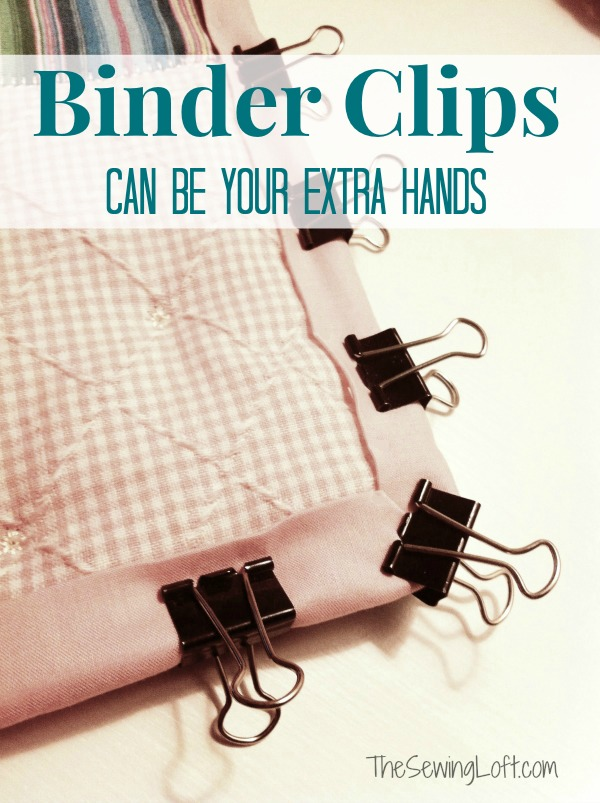 Sewing tips & hacks! Use binder clips for an extra hand!