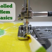 Make the perfect rolled hem with this trick!