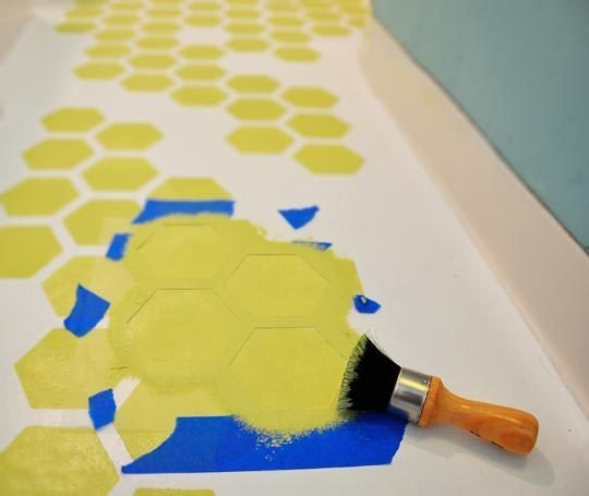 stencil vinyl flooring! Plus tons of other creative flooring ideas!