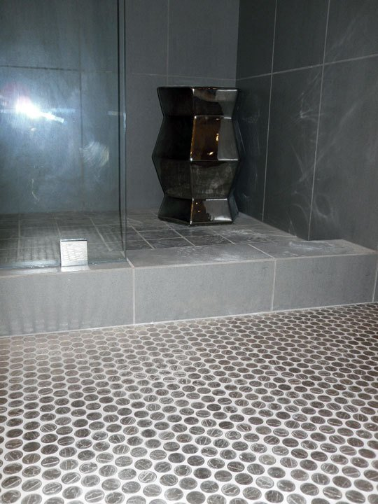 Nickel tile flooring!