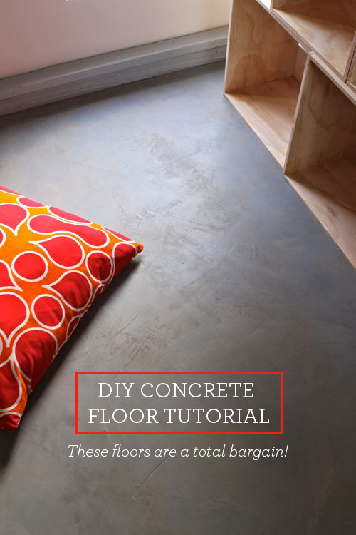 turn plywood floors into gorgeous concrete floors!