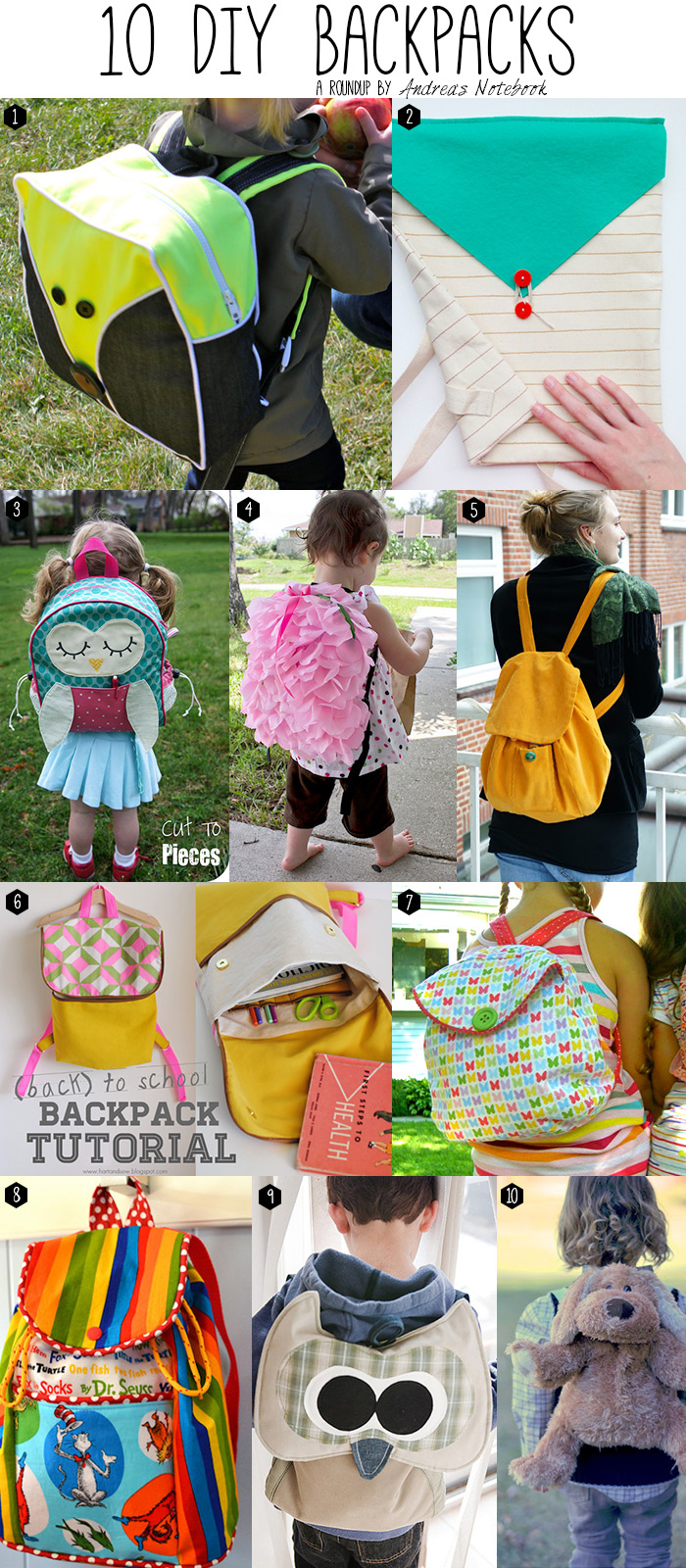 10 DIY backpacks!