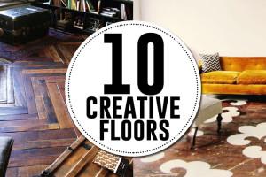 10 creative flooring ideas to DIY