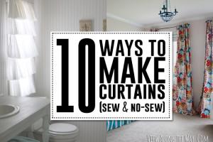 10 DIY curtain tutorials!