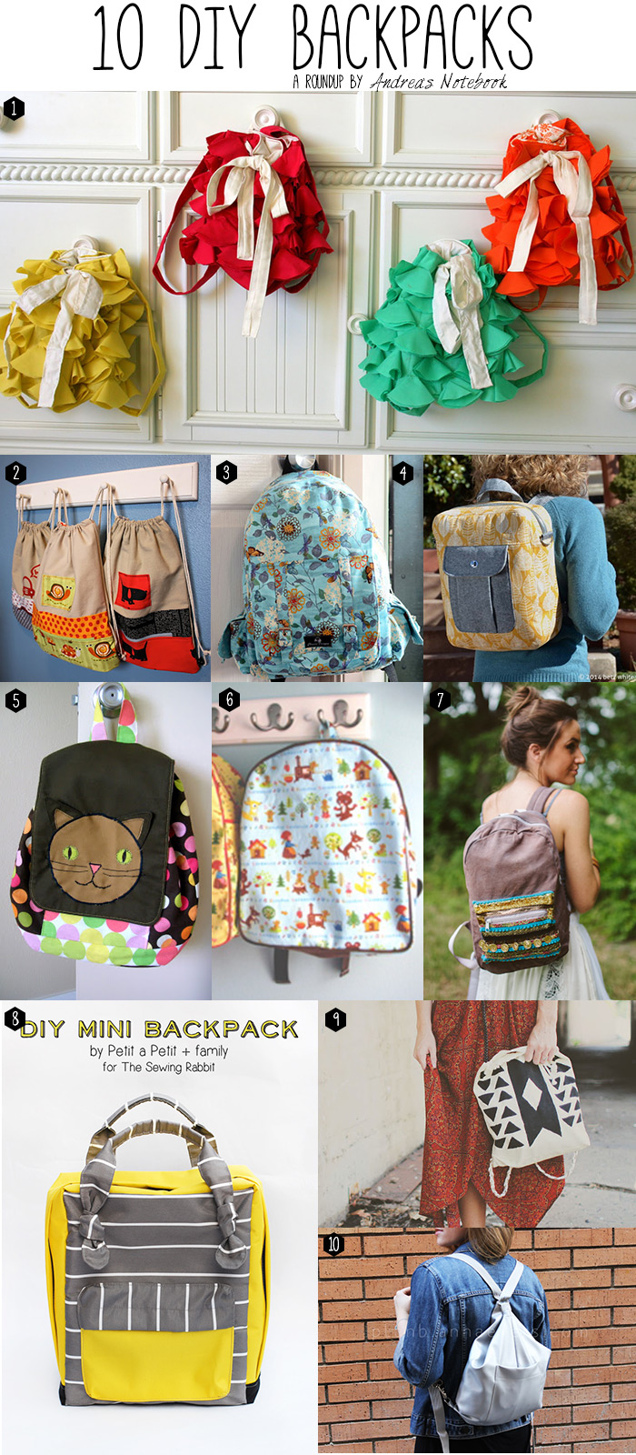 20 backpack tutorials (total)