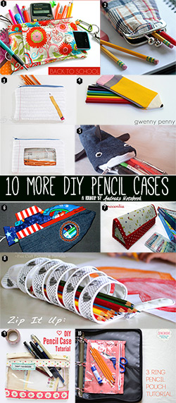 20 pencil pouch tutorials