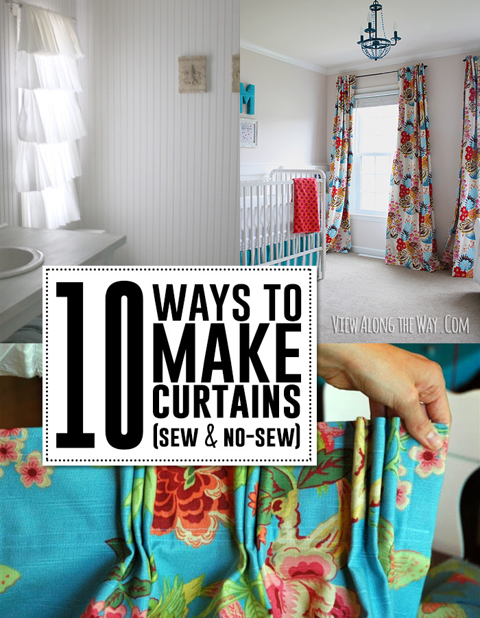 10 Great DIY Curtain Tutorials! Sew Or NO Sew!
