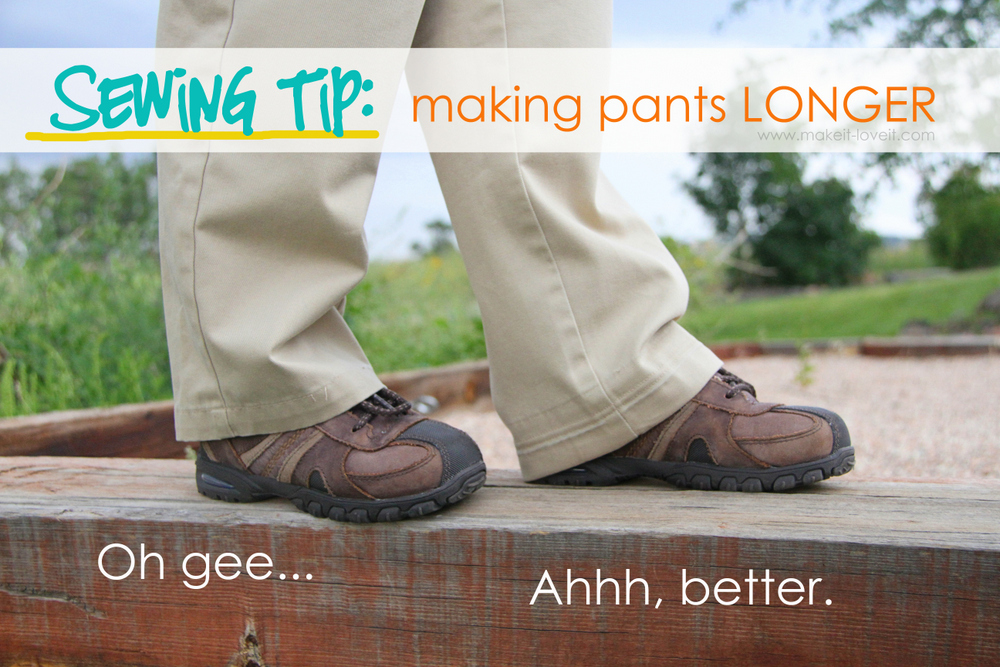 Make pants longer! Lots of great tips to make kids clothes last longer!