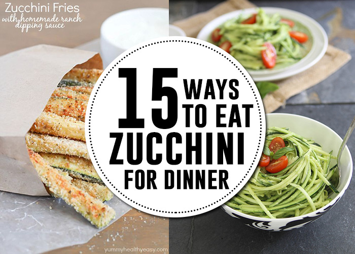 15 delicious zucchini recipes for dinner! AndreasNotebook.com