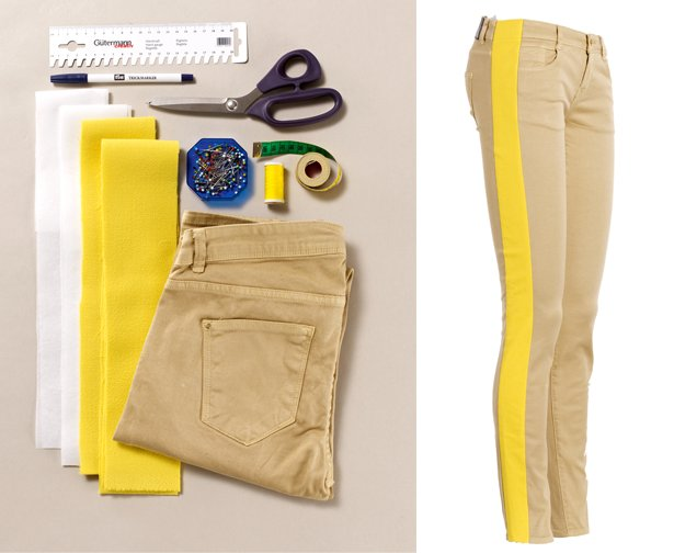 add colored inserts to your pants!